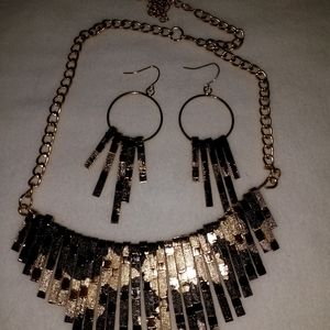 Gold and  brown necklace set